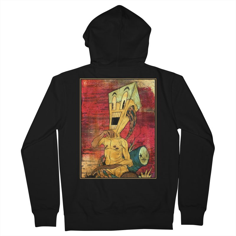 THE PATIENT Men's French Terry Zip-Up Hoody by Alex Pardee's Land Of Confusion