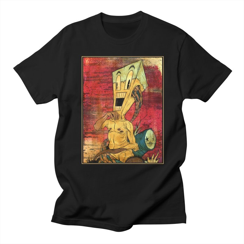 THE PATIENT in Men's Regular T-Shirt Black by Alex Pardee's Land Of Confusion