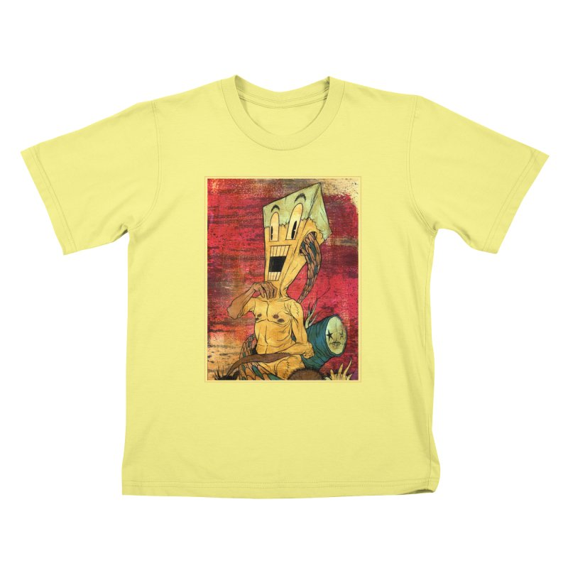 THE PATIENT Kids T-shirt by Alex Pardee's Land Of Confusion