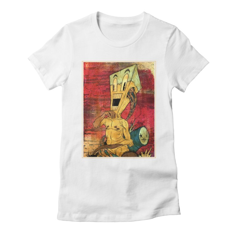 THE PATIENT Women's Fitted T-Shirt by Alex Pardee's Land Of Confusion