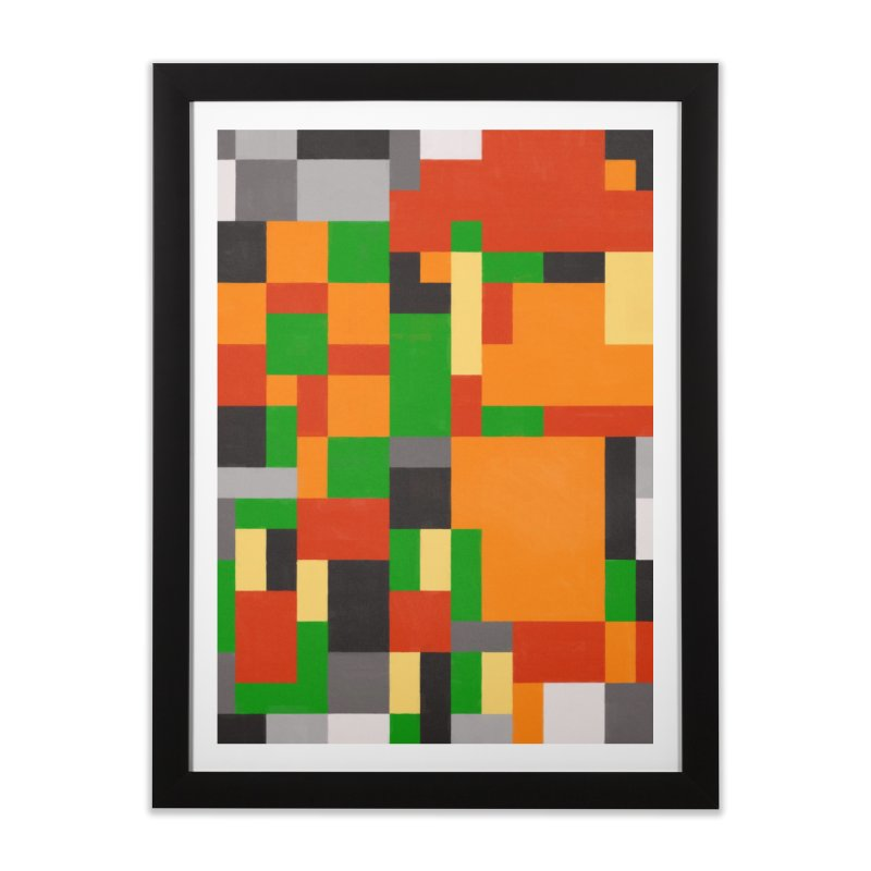 Orange Home Framed Fine Art Print by Alex Stanlake's Artist Shop