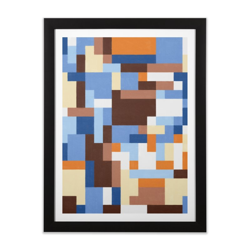 Sky Blue Home Framed Fine Art Print by Alex Stanlake's Artist Shop