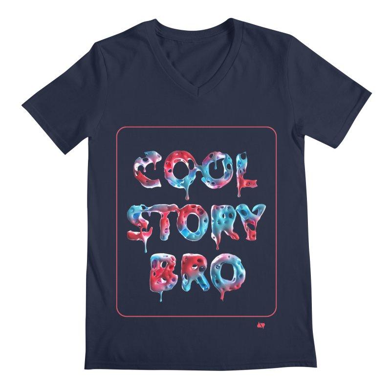 Cool Story, Bro v1 Men's Regular V-Neck by AD Apparel