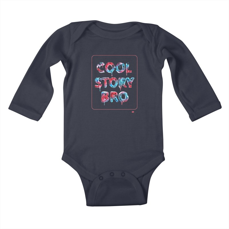 Cool Story, Bro v1 Kids Baby Longsleeve Bodysuit by AD Apparel