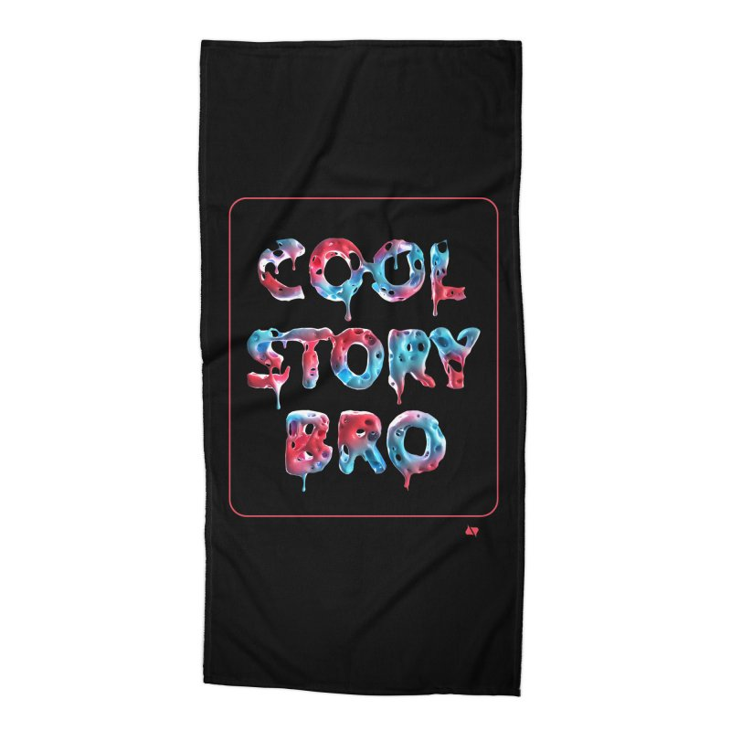 Cool Story, Bro v1 Accessories Beach Towel by AD Apparel