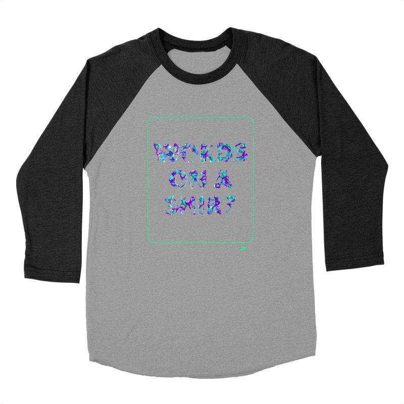Words on a shirt  Women's Baseball Triblend Longsleeve T-Shirt by AD Apparel