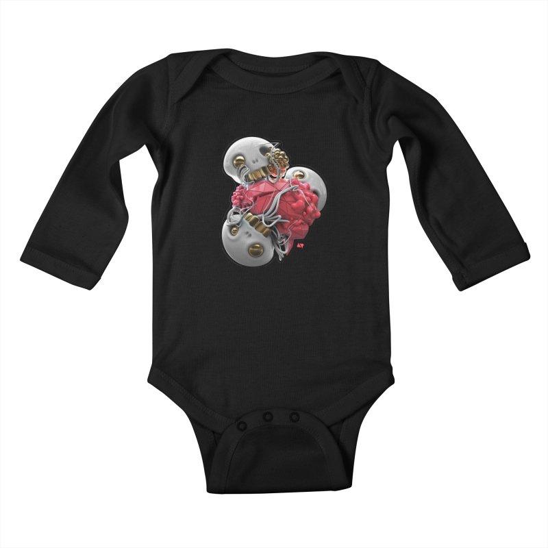 Brainiac Kids Baby Longsleeve Bodysuit by AD Apparel