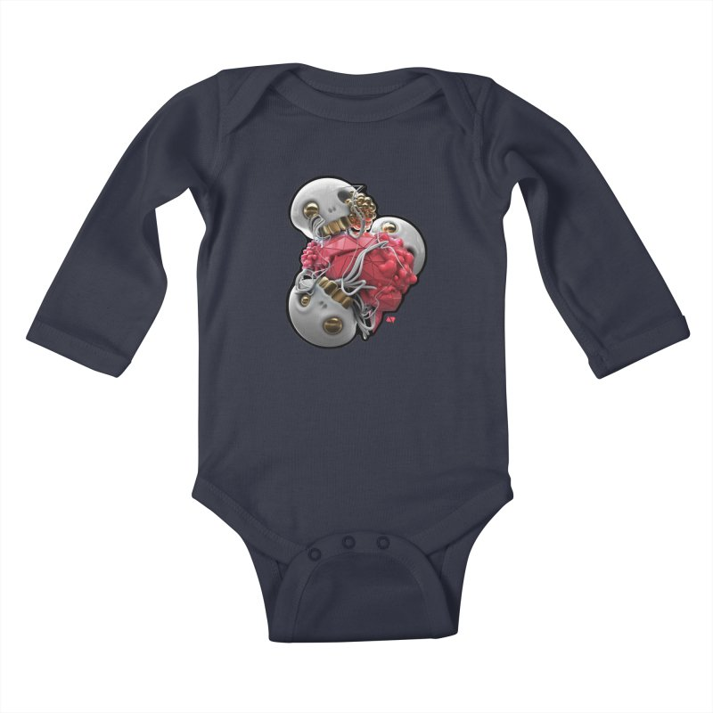 Brainiac Kids Baby Longsleeve Bodysuit by AD Apparel