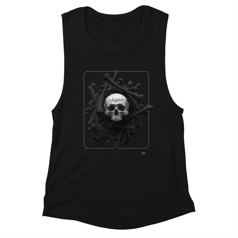 Decorated Cap'n Women's Tank by AD Apparel