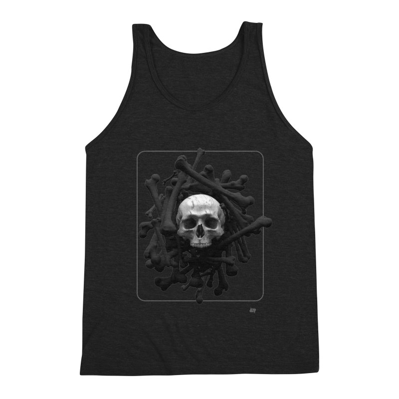 Decorated Cap'n Men's Triblend Tank by AD Apparel