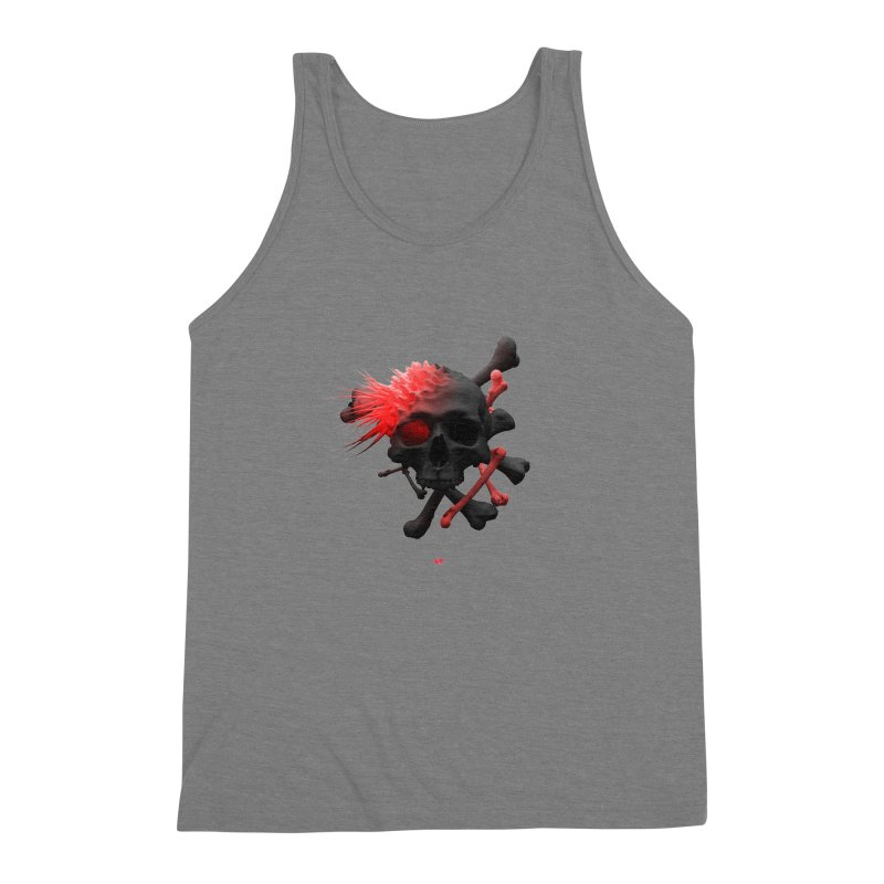 Angry Cap'n Men's Triblend Tank by AD Apparel
