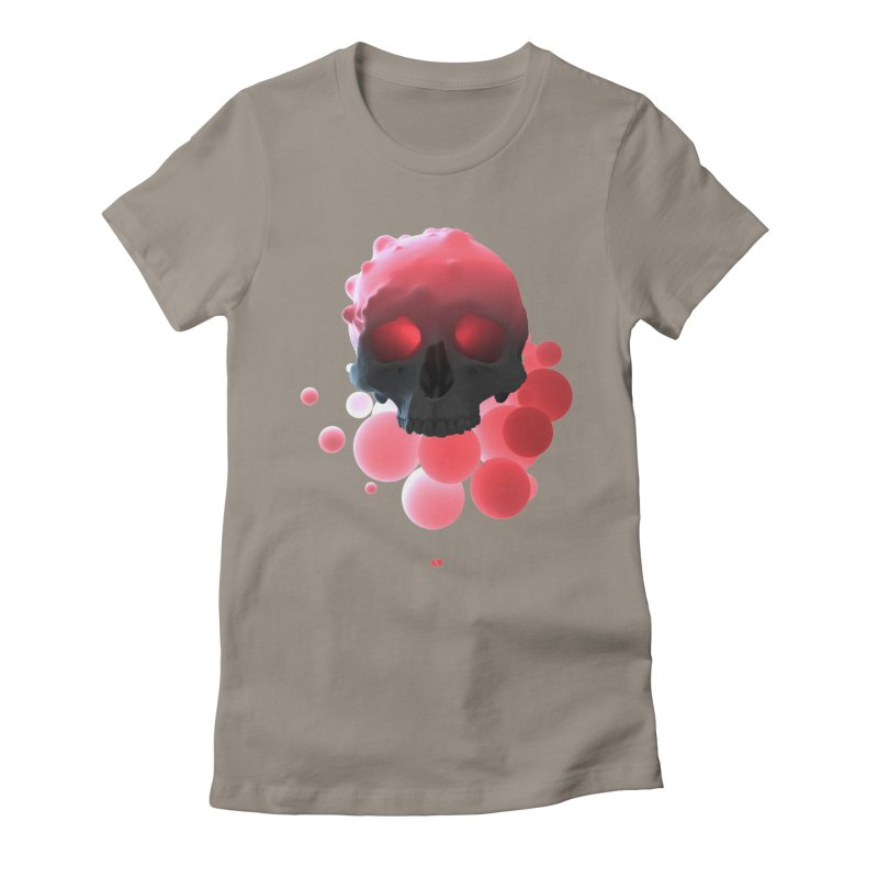 Bubbleboom Women's Fitted T-Shirt by AD Apparel