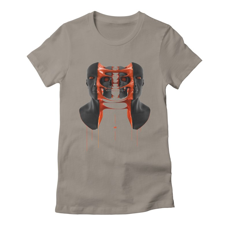 Split Women's Fitted T-Shirt by AD Apparel