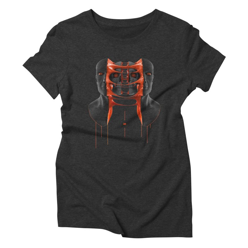Split Women's Triblend T-Shirt by AD Apparel