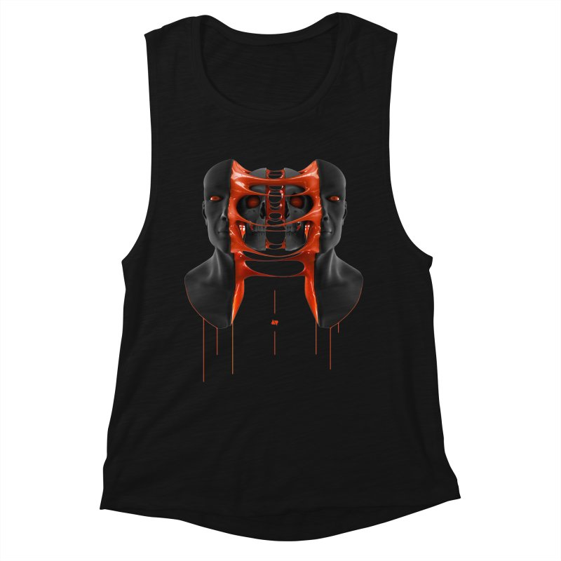 Split Women's Muscle Tank by AD Apparel