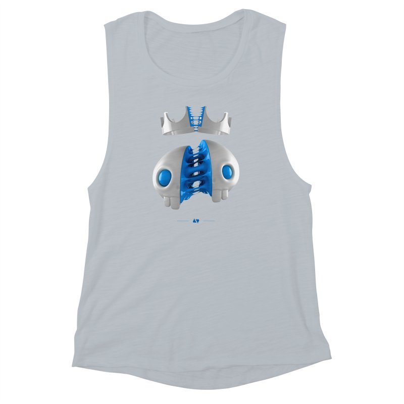 Royal Women's Muscle Tank by AD Apparel