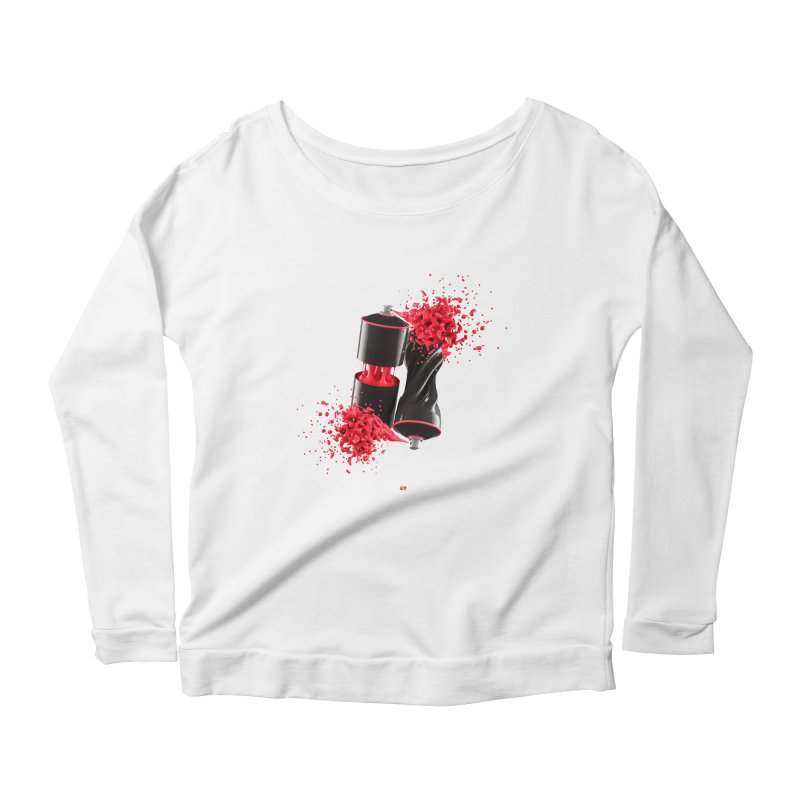 170310 Women's Longsleeve Scoopneck  by AD Apparel
