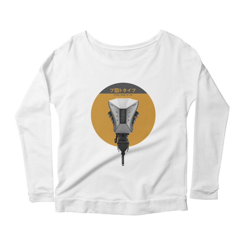 Prototype 01 Women's Scoop Neck Longsleeve T-Shirt by AD Apparel
