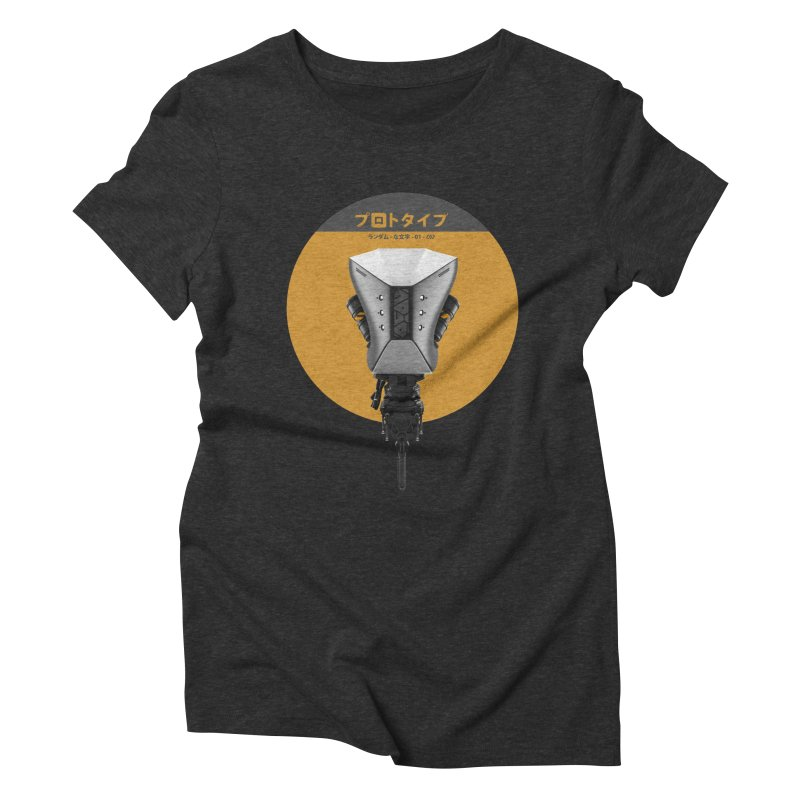 Prototype 01 Women's Triblend T-Shirt by AD Apparel