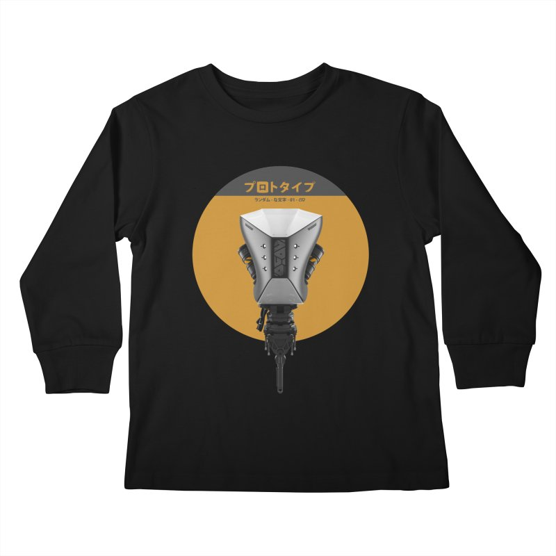 Prototype 01 Kids Longsleeve T-Shirt by AD Apparel
