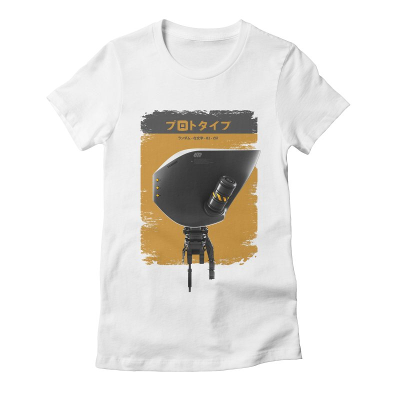 Prototype 02 Women's Fitted T-Shirt by AD Apparel