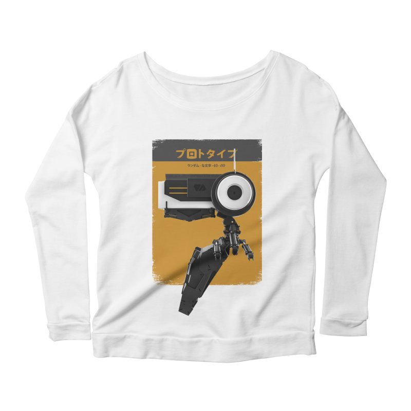 Prototype 03 Women's Scoop Neck Longsleeve T-Shirt by AD Apparel