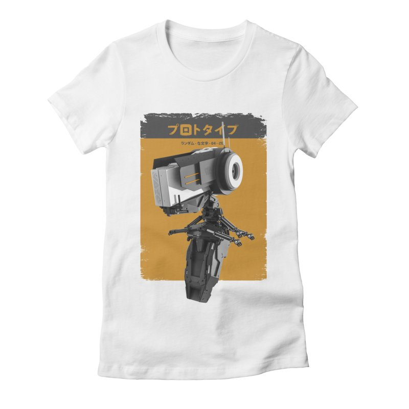 Prototype 04 Women's Fitted T-Shirt by AD Apparel