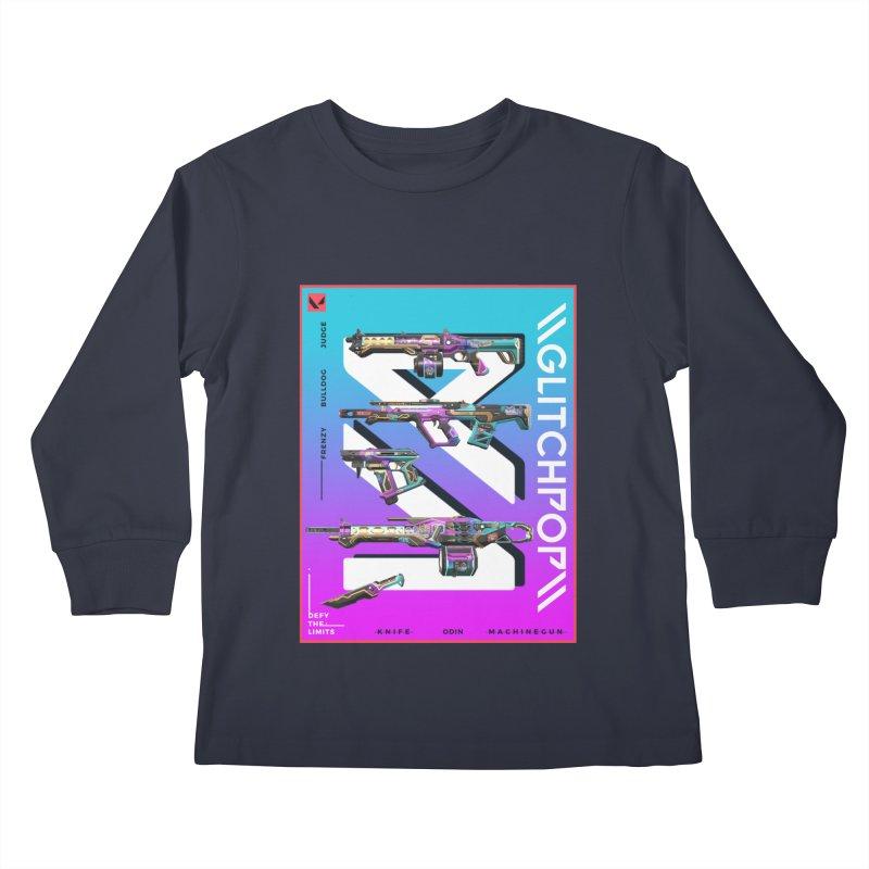 GLITCHPOP WEAPON Kids Longsleeve T-Shirt by ALGS's Artist Shop