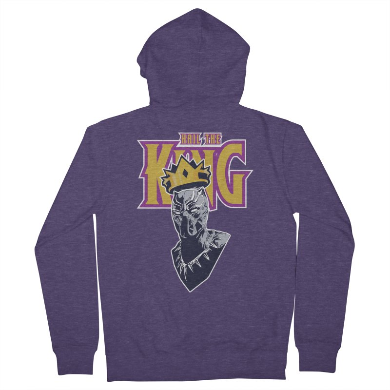 HAIL THE KING Men's French Terry Zip-Up Hoody by ALGS's Artist Shop
