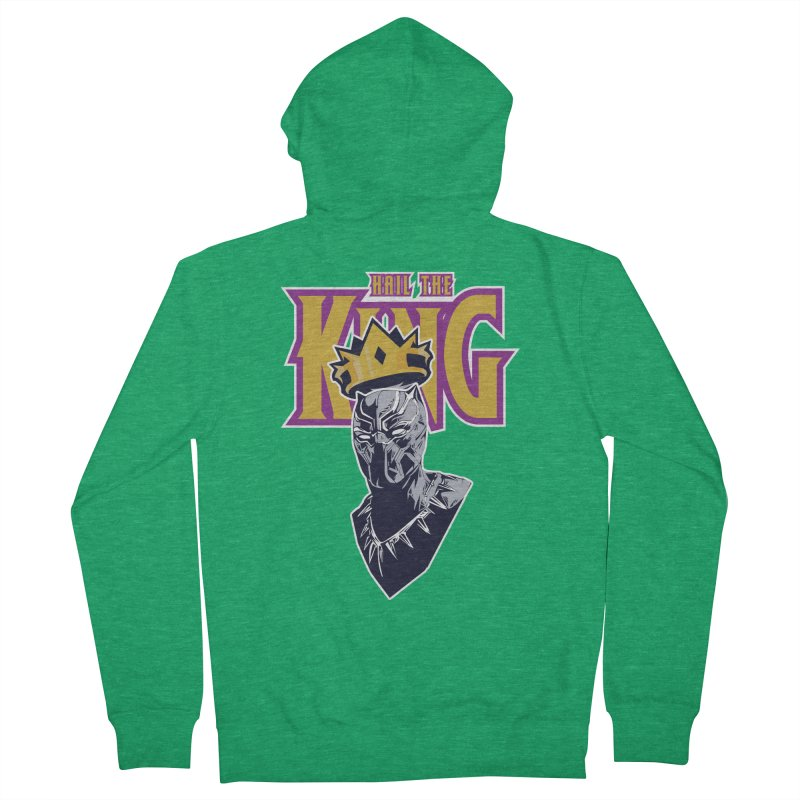 HAIL THE KING Men's Zip-Up Hoody by ALGS's Artist Shop