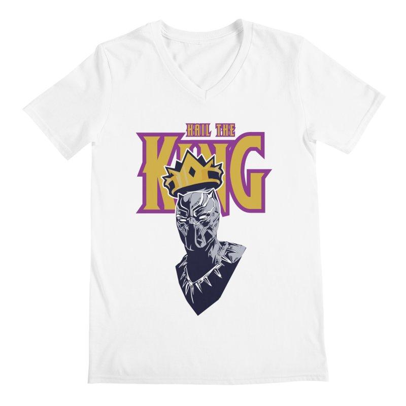 HAIL THE KING Men's Regular V-Neck by ALGS's Artist Shop