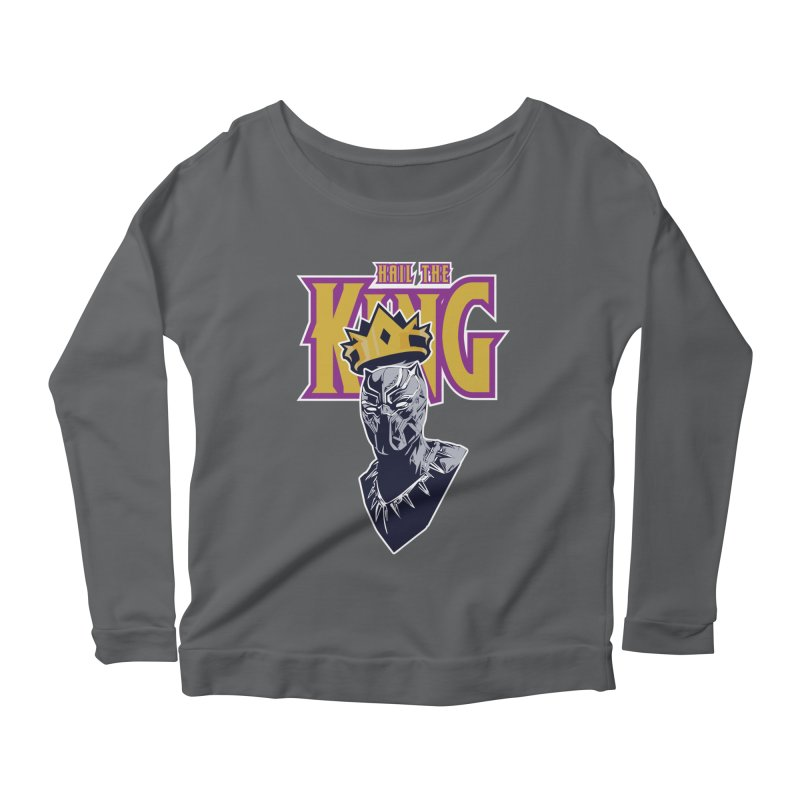 HAIL THE KING Women's Scoop Neck Longsleeve T-Shirt by ALGS's Artist Shop