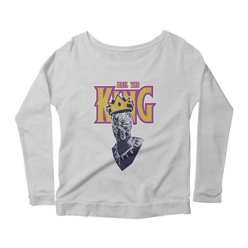 HAIL THE KING Women's Scoop Neck Longsleeve T-Shirt by ALGS's Artist Shop