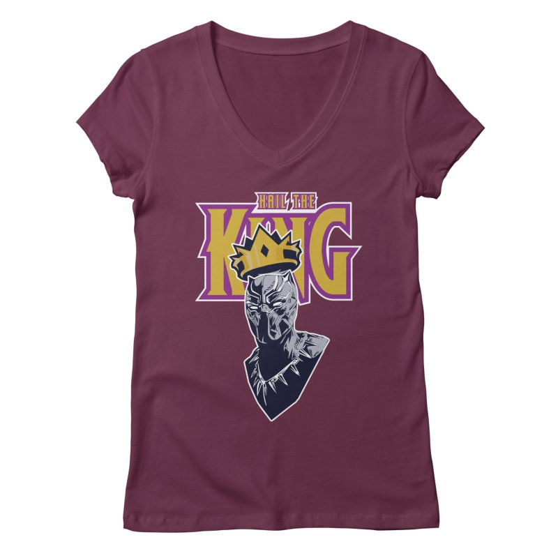 HAIL THE KING Women's V-Neck by ALGS's Artist Shop