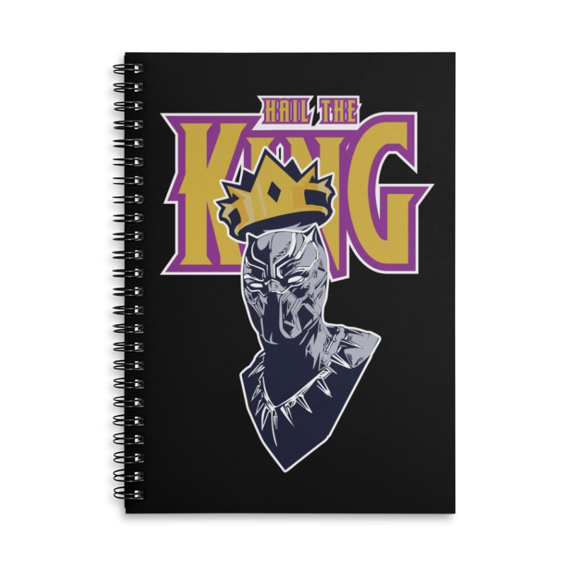 HAIL THE KING Accessories Lined Spiral Notebook by ALGS's Artist Shop