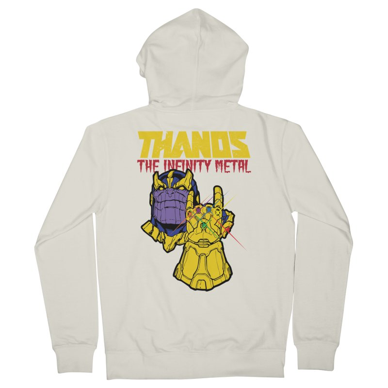 THANOS METAL Women's French Terry Zip-Up Hoody by ALGS's Artist Shop