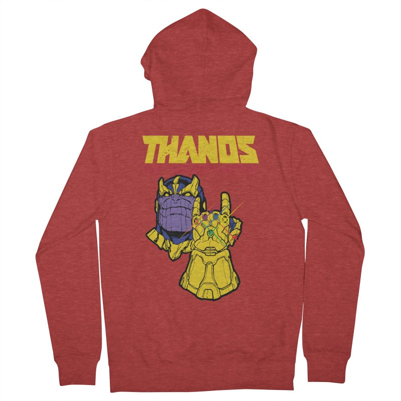 THANOS METAL Men's French Terry Zip-Up Hoody by ALGS's Artist Shop
