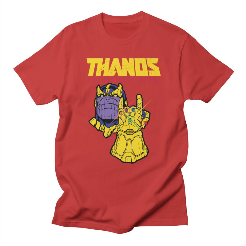 THANOS METAL Men's Regular T-Shirt by ALGS's Artist Shop