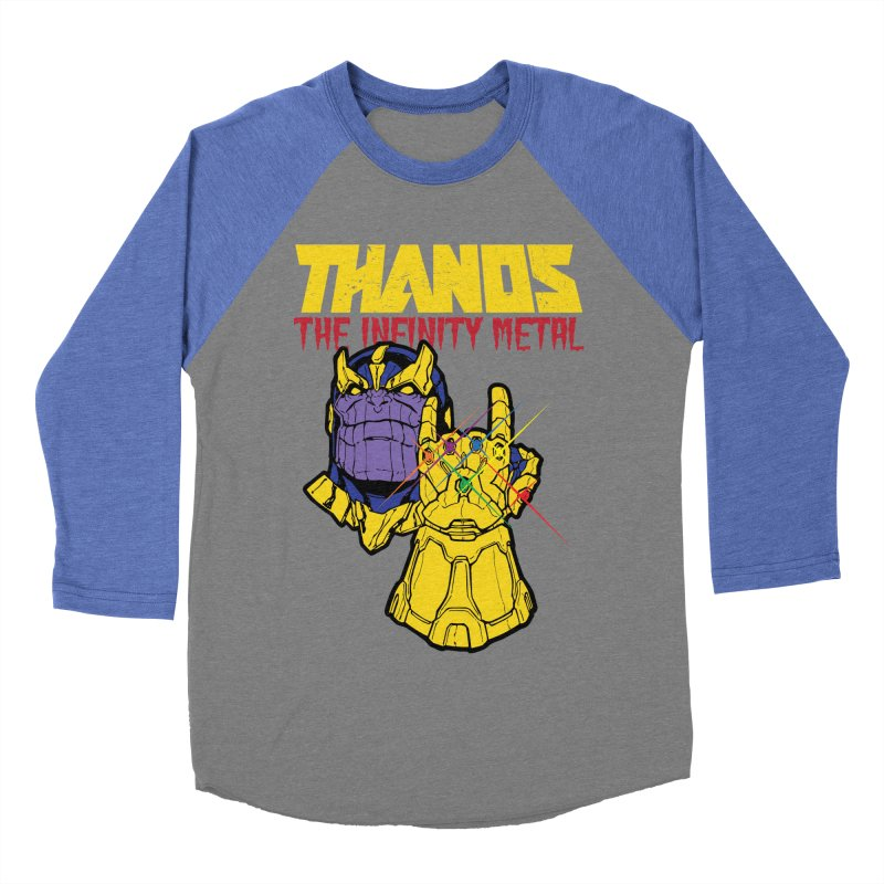 THANOS METAL Women's Baseball Triblend Longsleeve T-Shirt by ALGS's Artist Shop
