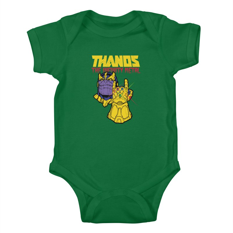 THANOS METAL Kids Baby Bodysuit by ALGS's Artist Shop