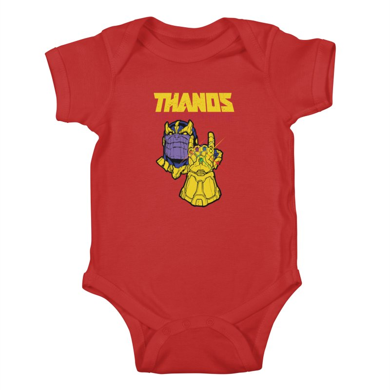 THANOS METAL Kids Baby Bodysuit by ALGS's Artist Shop