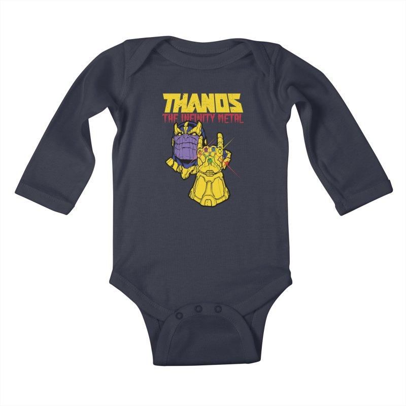 THANOS METAL Kids Baby Longsleeve Bodysuit by ALGS's Artist Shop