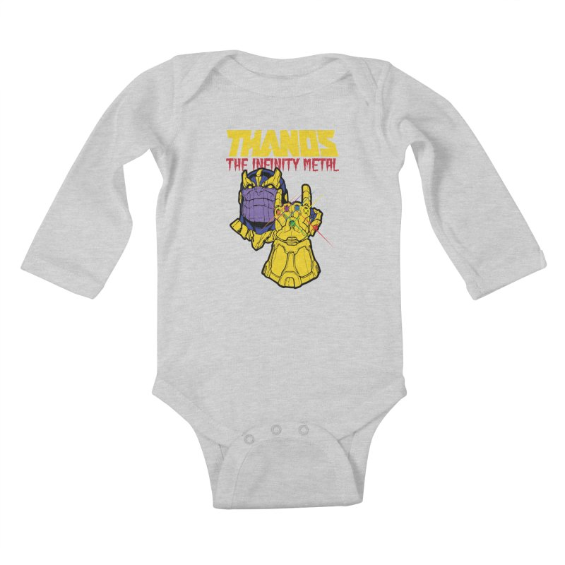THANOS METAL Kids Baby Longsleeve Bodysuit by ALGS's Artist Shop