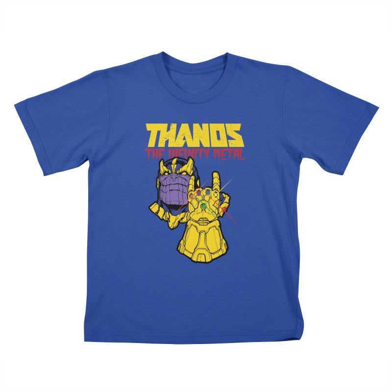 THANOS METAL Kids T-Shirt by ALGS's Artist Shop
