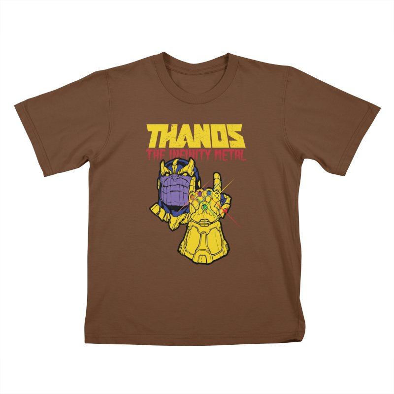 THANOS METAL Kids T-Shirt by ALGS's Artist Shop