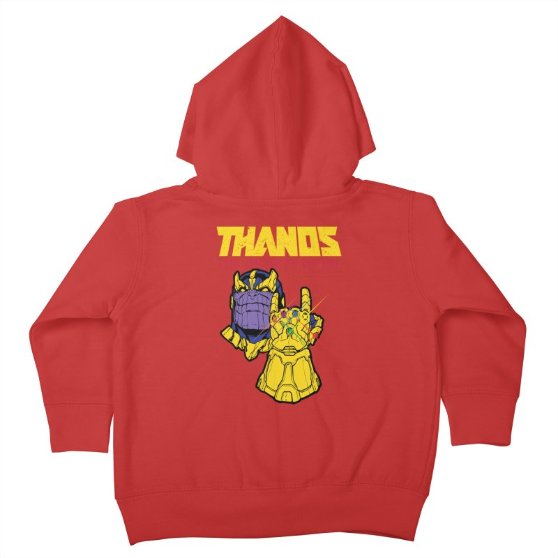 THANOS METAL Kids Toddler Zip-Up Hoody by ALGS's Artist Shop