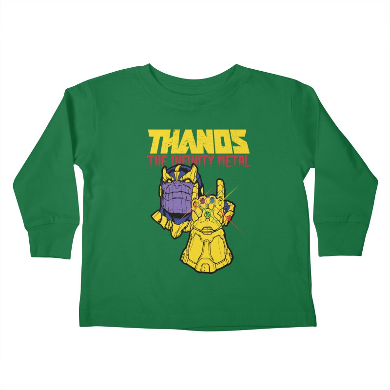 THANOS METAL Kids Toddler Longsleeve T-Shirt by ALGS's Artist Shop
