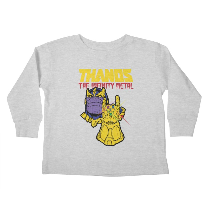 THANOS METAL Kids Toddler Longsleeve T-Shirt by ALGS's Artist Shop