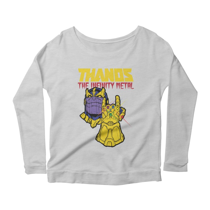 THANOS METAL Women's Scoop Neck Longsleeve T-Shirt by ALGS's Artist Shop
