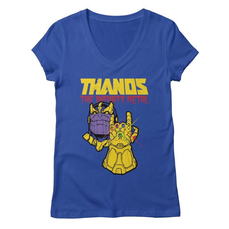 THANOS METAL Women's V-Neck by ALGS's Artist Shop